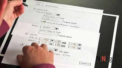 Test di usabilità su carta