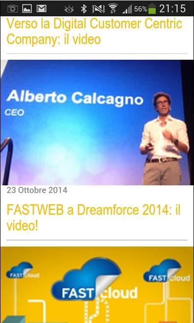 intranet mobile fastweb Calcagno