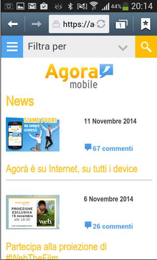 intranet mobile fastweb news