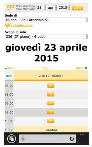 intranet mobile fastweb sale riunioni