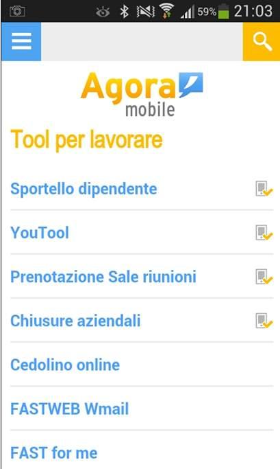 intranet mobile fastweb tool