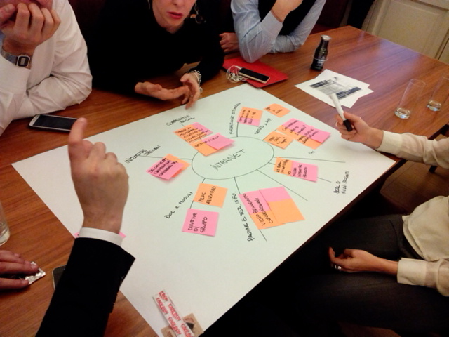 Una sessione di gruppo sui contenti e i servizi della nuova intranet