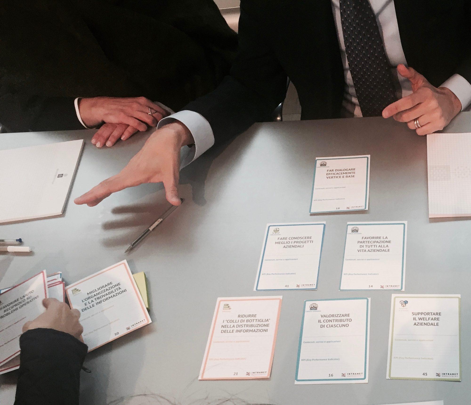 workshop obiettivi della intranet - esempio 1