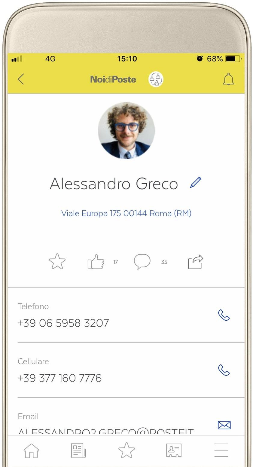 App-NoidiPoste-profilo personale