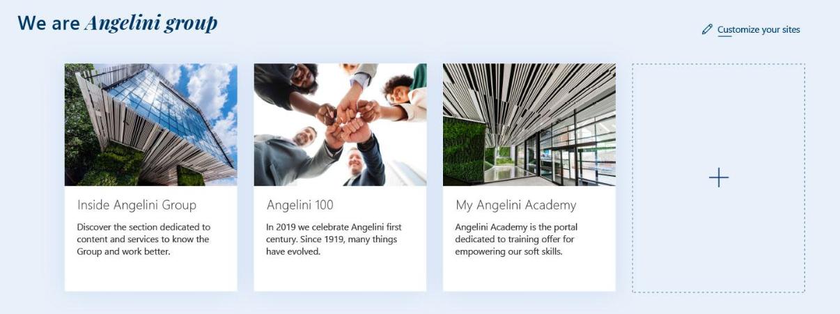 Un esempio di personalizzazione sulla intranet di Angelini