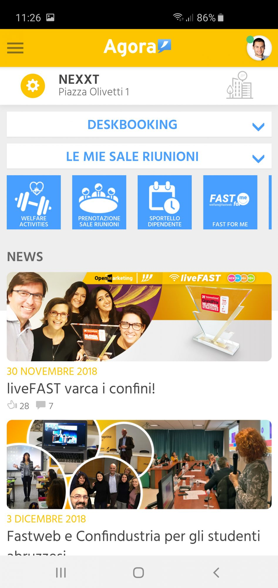Intranet App Fastweb