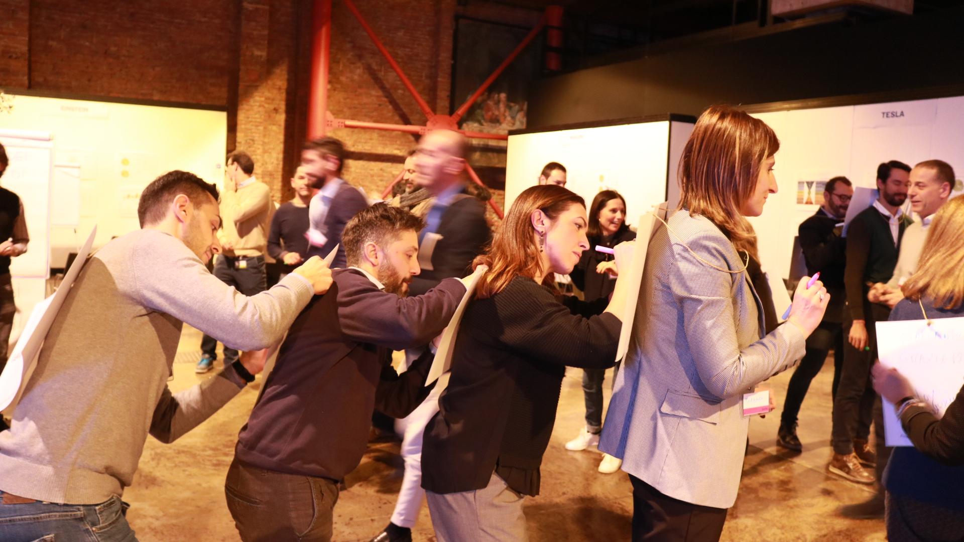 Gruppo Sella - workshop con i colleghi - evento aziendale