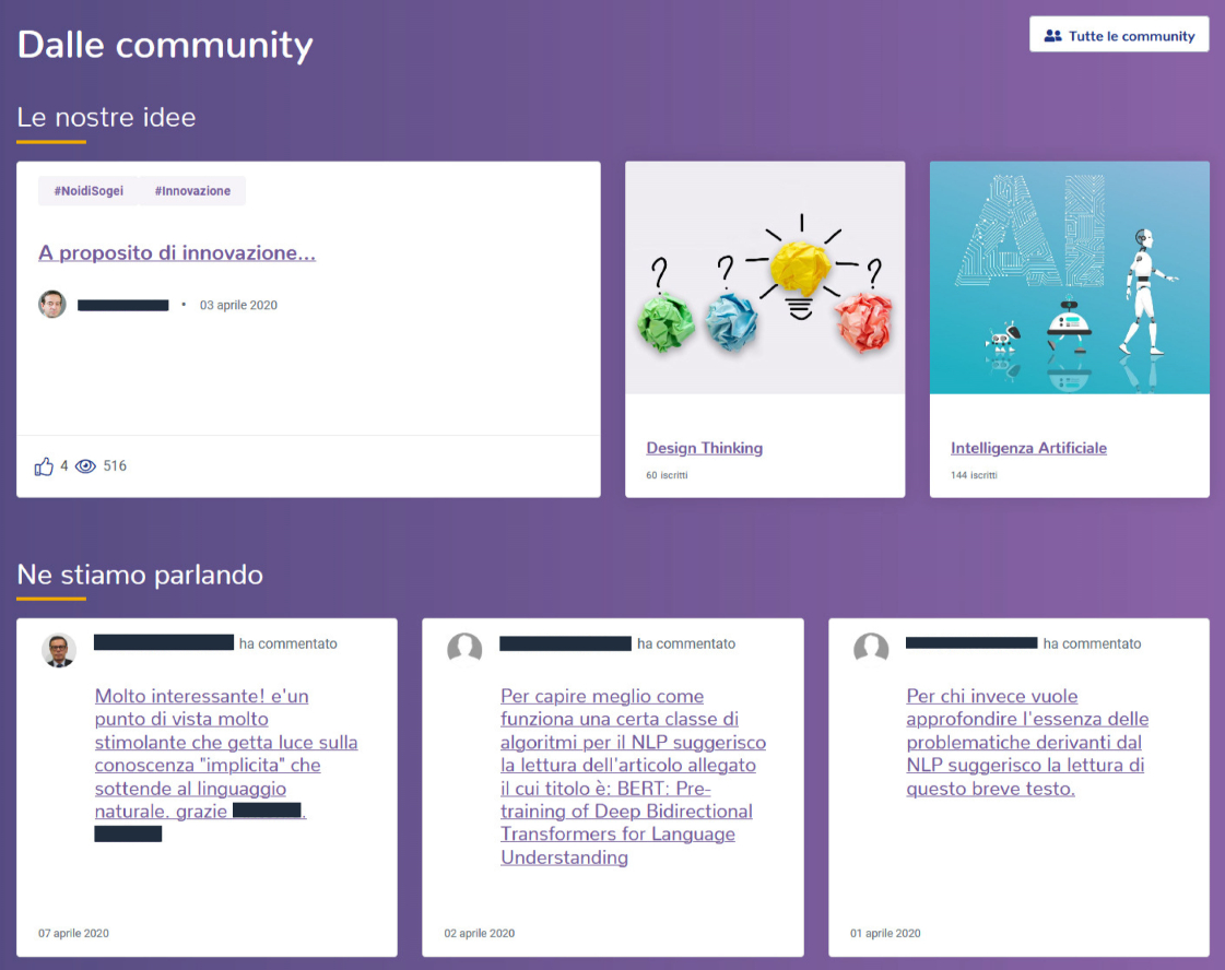 community intranet Sogei